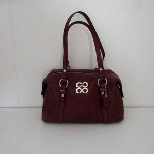 Coach Deep Violet 4C Leather Satchel
